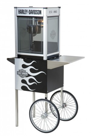 HARLEY-DAVIDSON METALLIC FLAMES POPCORN MACHINE 4 oz W/CART